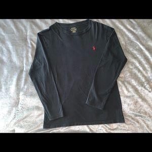 Black polo long sleeve shirt